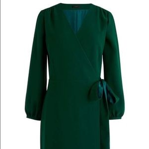 JCREW Emerald Green Wrap Dress